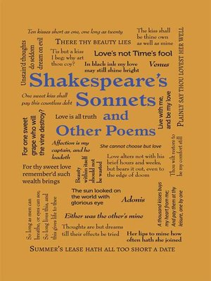 cover image of Shakespeare's Sonnets and Other Poems