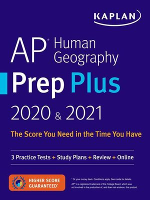 cover image of AP Human Geography Prep Plus 2020 & 2021