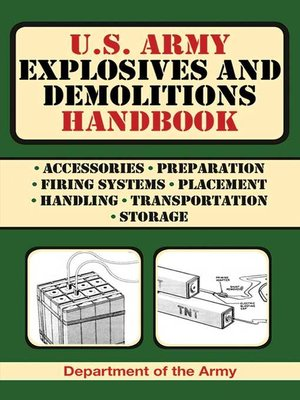 cover image of U.S. Army Explosives and Demolitions Handbook