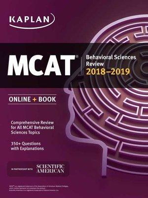 cover image of MCAT Behavioral Sciences Review 2018-2019
