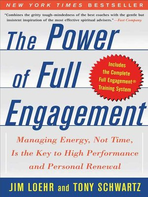 cover image of The Power of Full Engagement
