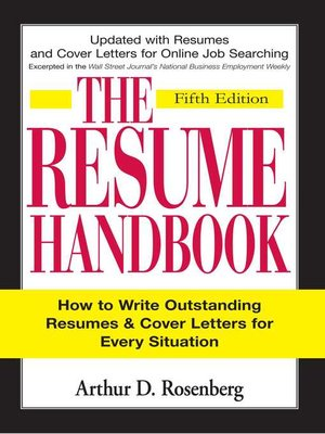 cover image of The Resume Handbook