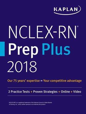 cover image of NCLEX-RN Prep Plus 2018