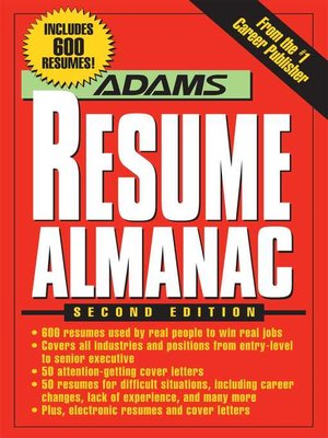 cover image of Adams Resume Almanac