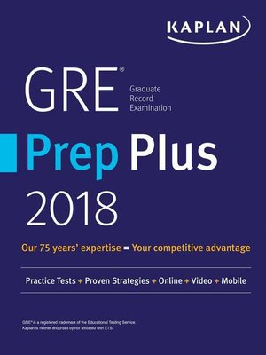 cover image of GRE Prep Plus 2018