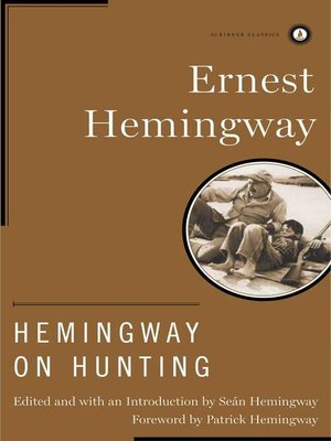cover image of Hemingway on Hunting