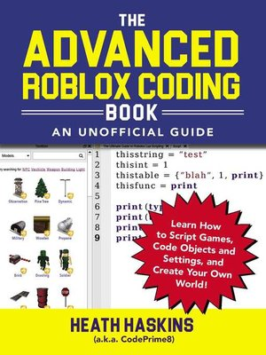 cover image of The Advanced Roblox Coding Book
