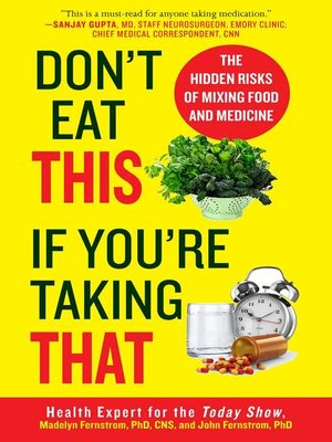 cover image of Don't Eat This If You're Taking That