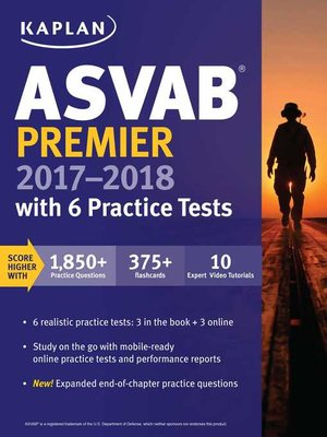 cover image of ASVAB Premier 2017-2018 with 6 Practice Tests