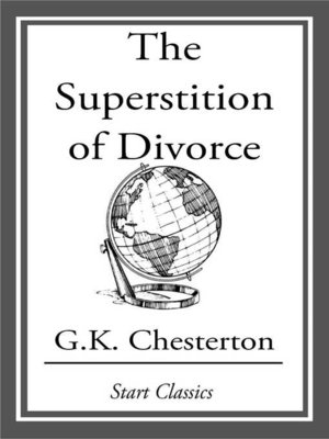 cover image of The Superstition of Divorce