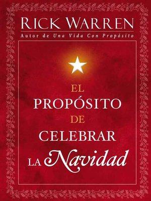 cover image of El Propósito de Celebrar la Navidad