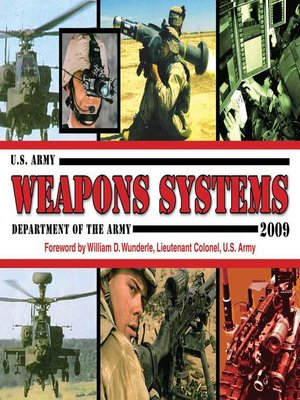 cover image of U.S. Army Weapons Systems 2009