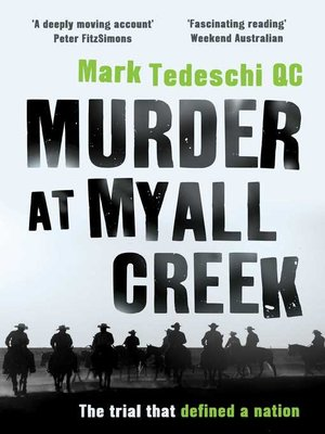 cover image of Murder at Myall Creek
