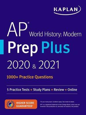 cover image of AP World History Modern Prep Plus 2020 & 2021