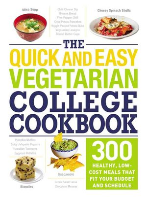 cover image of The Quick and Easy Vegetarian College Cookbook