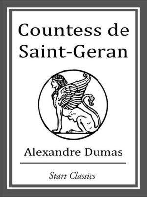 cover image of Countess de Saint-Geran