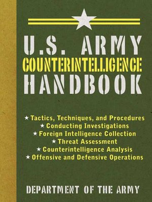 cover image of U.S. Army Counterintelligence Handbook