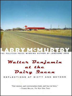 cover image of Walter Benjamin at the Dairy Queen