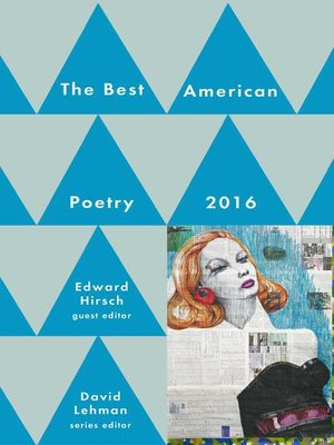 cover image of Best American Poetry 2016