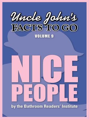cover image of Uncle John's Facts to Go Nice People