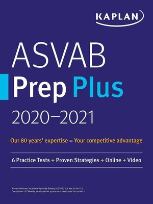 cover image of ASVAB Prep Plus 2020-2021