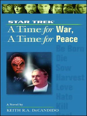 cover image of A Time for War, A Time for Peace