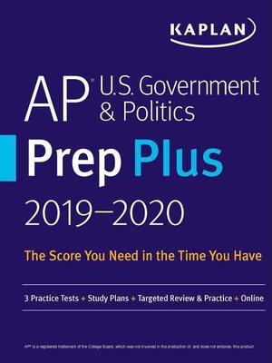 cover image of AP U.S. Government & Politics Prep Plus 2019-2020