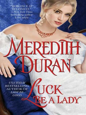 cover image of Luck Be a Lady