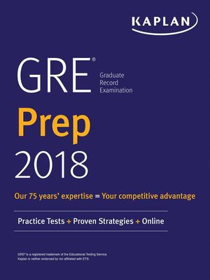 cover image of GRE Prep 2018