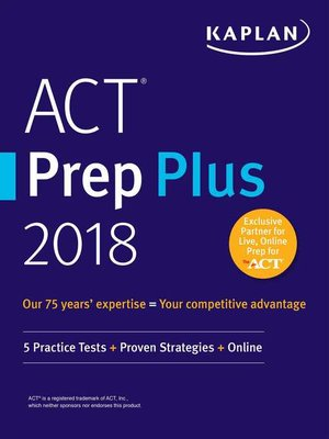 cover image of ACT Prep Plus 2018