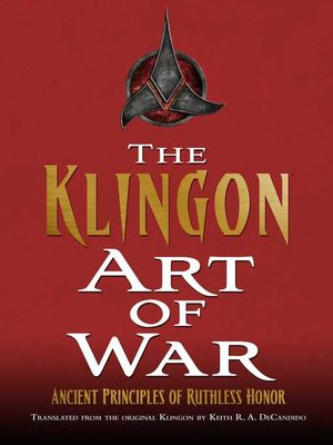 cover image of The Klingon Art of War