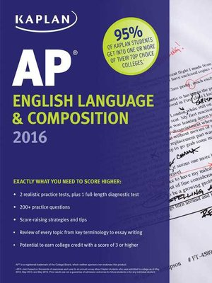 Kaplan ap english language composition 2016 by denise pivarnik kaplan ap english language composition 2016 fandeluxe Images