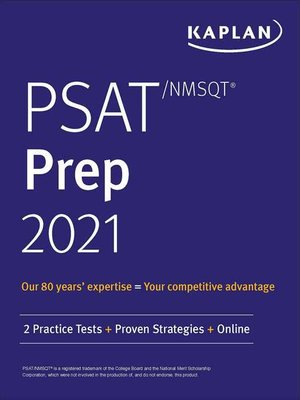 cover image of PSAT/NMSQT Prep 2021
