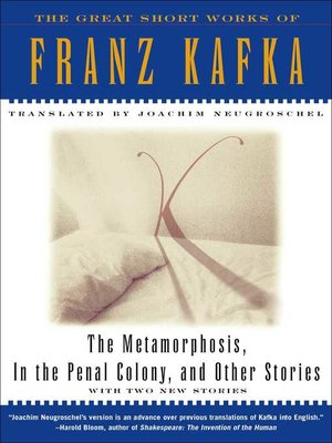 cover image of Metamorphosis, In The Penal Colony, and Other Stories