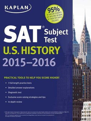 cover image of Kaplan SAT Subject Test U.S. History 2015-2016