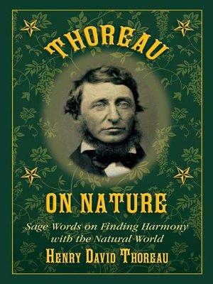 cover image of Thoreau on Nature