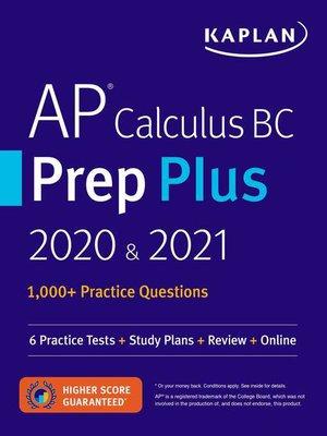 cover image of AP Calculus BC Prep Plus 2020 & 2021
