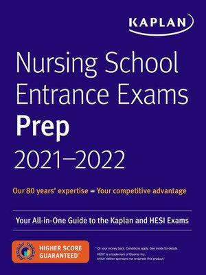 cover image of Nursing School Entrance Exams Prep 2021-2022