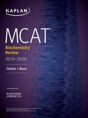 cover image of MCAT Biochemistry Review 2019-2020