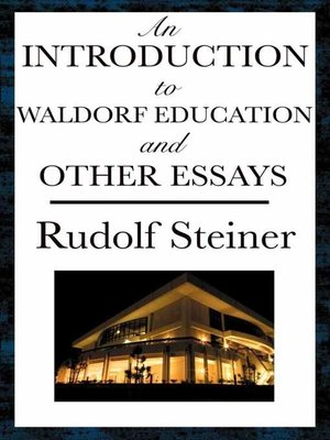 cover image of An Introduction to Waldorf Education and Other Essays