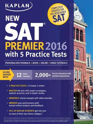 cover image of Kaplan New SAT Premier 2016 with 5 Practice Tests