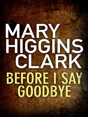 cover image of Before I Say Good-Bye
