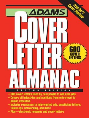 cover image of Adams Cover Letter Almanac