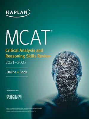cover image of MCAT Critical Analysis and Reasoning Skills Review 2021-2022
