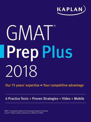 cover image of GMAT Prep Plus 2018