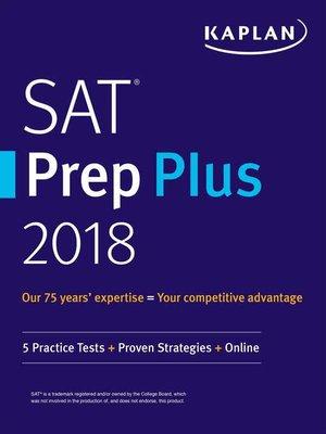 cover image of SAT Prep Plus 2018
