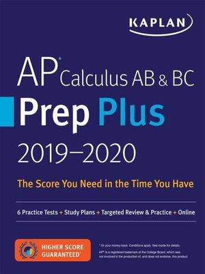 cover image of AP Calculus AB & BC Prep Plus 2019-2020