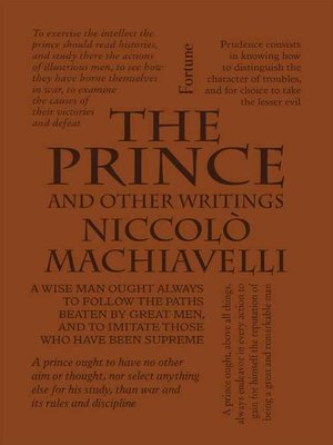 cover image of The Prince and Other Writings