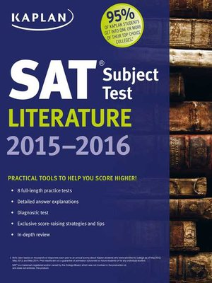 cover image of Kaplan SAT Subject Test Literature 2015-2016