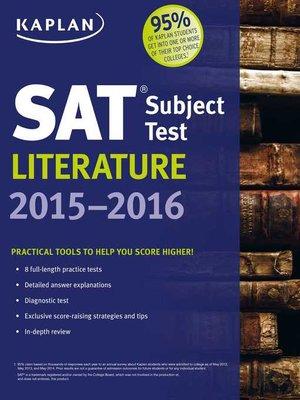 Kaplan test prepseries overdrive rakuten overdrive ebooks cover image of kaplan sat subject test literature 2015 2016 fandeluxe Images